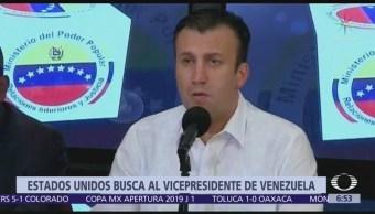 EU busca a exvicepresidente de Venezuela