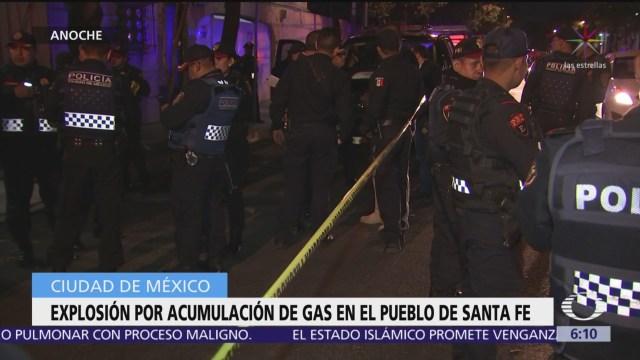 Explosión por acumulación de gas en pueblo de Santa Fe