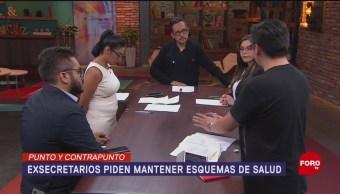 Foto: Exsecretarios Salud Piden Conservar Seguro Popular 7 Agosto 2019