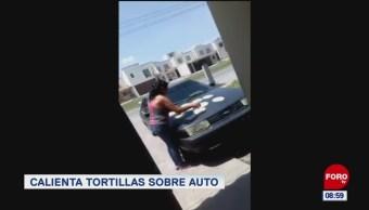 Extra, Extra: Calienta tortillas sobre auto