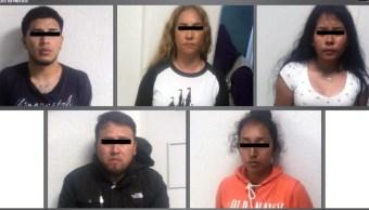 Foto: Los implicados fueron remitidos al Ministerio Público correspondiente, 17 de agosto de 2019 (Twitter @FiscalEdomex)