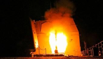 Foto: La Armada de Estados Unidos lanzó un misil de crucero Tomahawk. Getty Images/Archivo