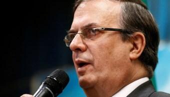 El canciller Marcelo Ebrard ofreció una conferencia de prensa,