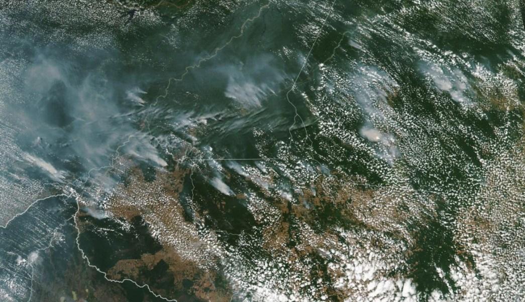 Foto: La NASA capta un enorme incendio en la Amazonía brasileña. NASA