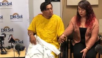 Foto: Octavio Lizarde narró el tiroteo en El Paso, Texas, EEUU. El 6 de agosto de 2019. Twitter/@MillsKFOX_CBS