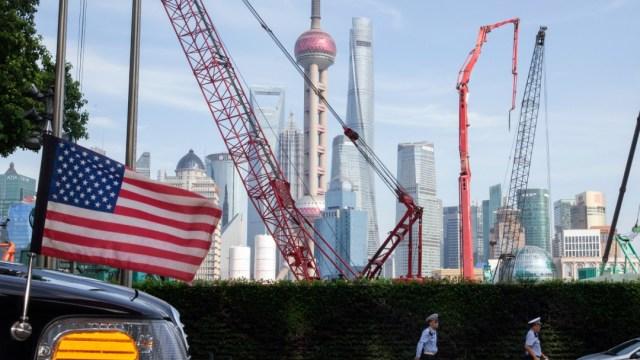 Foto: Auto cerca de la embajada de EU en China, 30 de julio de 2019, Shanghai