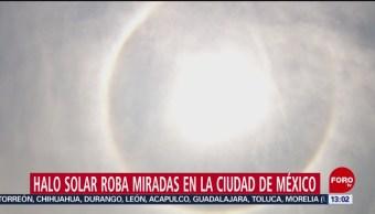 FOTO: Halo Solar roba miradas en la Ciudad de México, 25 Agosto 2019