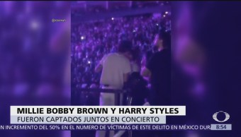 Harry Styles, tendencia por plática con Millie Bobby Brown