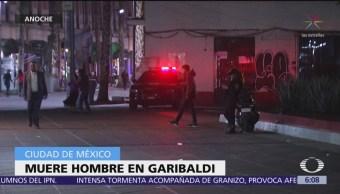 Hombre muere por congestión alcohólica en Plaza de Garibaldi