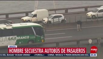 Foto: Hombre Secuestra Autobús Pasajeros Brasil 20 Agosto 2019