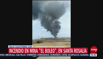 FOTO: Incendio mina El Boleo BCS