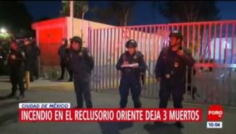 Incendio en Reclusorio Oriente CDMX provocado por posible falla eléctrica