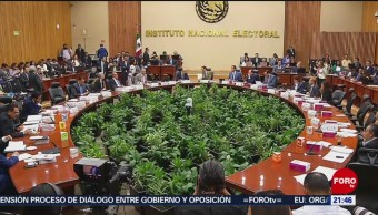 Foto: Ine Aprueba Presupuesto Partidos Políticos 2020 14 Agosto 2019