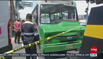 Foto: Ataque Custodios Microbús Iztapalapa CDMX 20 Agosto 2019