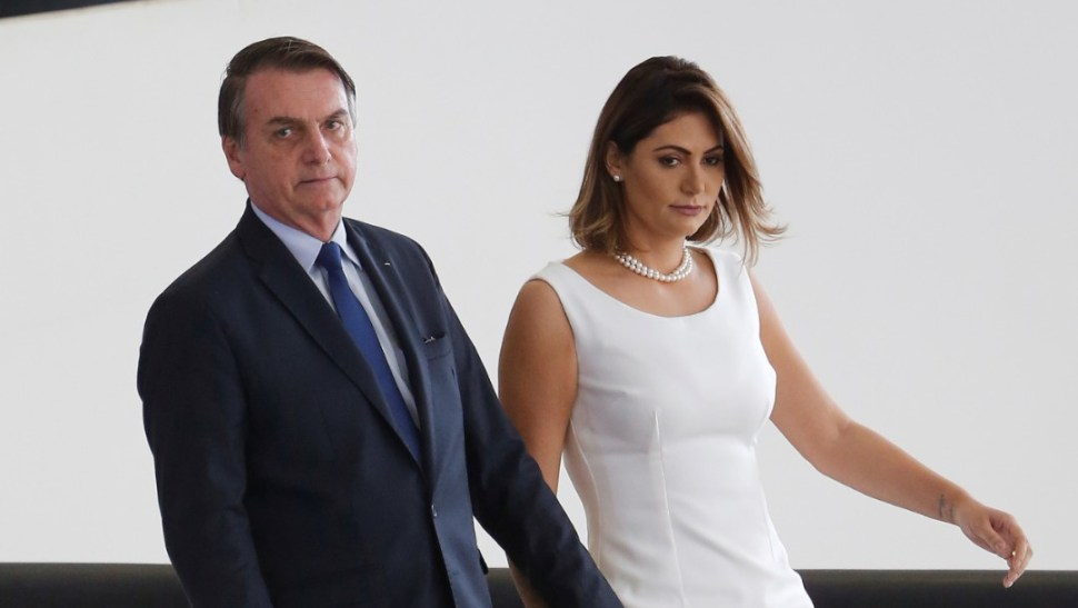 Foto: Jair y Michelle Bolsonaro, 5 de abril de 2019, Brasil