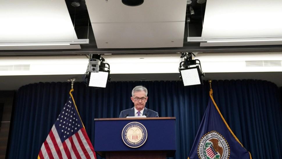 JFoto: Jerome Powell, presidente de la Reserva Federal, 31 de julio de 2019, Estados Unidos