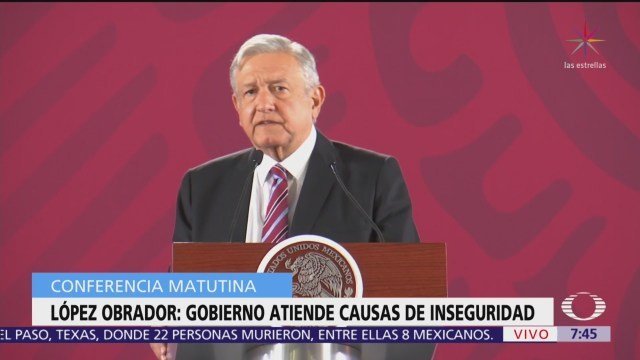 La inseguridad preocupa a López Obrador