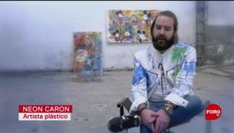 FOTO: Las pinturas con realidad aumentada del mexicano 'Neon Caron', 24 Agosto 2019