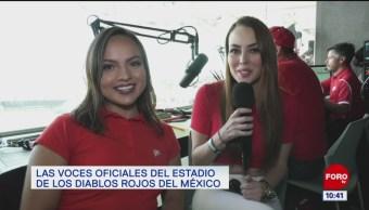 Las voces oficiales del estadio de Los Diablos Rojos del México