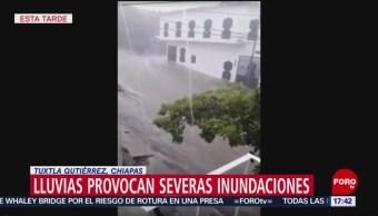 FOTO: Lluvias provocan severas inundaciones en Tuxtla Gutiérrez, Chiapas, 4 Agosto 2019