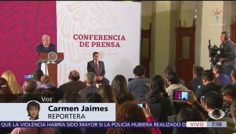 López Obrador respalda a Sheinbaum ante violencia en protestas