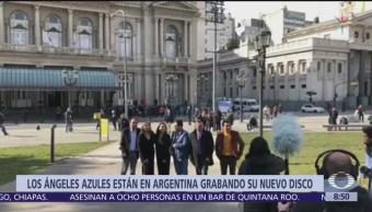 Los Ángeles Azules recorren calles de Buenos Aires, Argentina