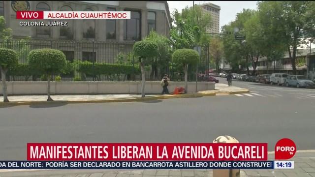 Foto: Manifestantes Liberan Circulación Avenida Bucareli CDMX, 5 de Agosto de 2019
