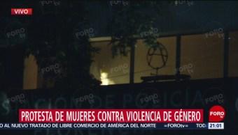 Foto: Video Manifestantes Vandalizan Estación Policía Florencia CDMX 16 Agosto 2019