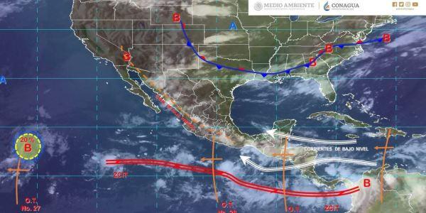 Mapa con el pronóstico del clima para este 15 de agosto de 2019