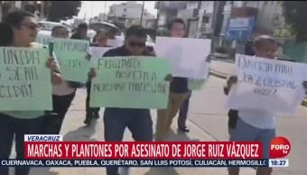 FOTO: Marchas y plantones por asesinato de Jorge Ruiz Vázquez, 3 AGOSTO 2019