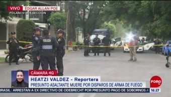 FOTO: Matan Presunto Asaltante Vestido Repartidor Comida Polanco, 21 agosto 2019