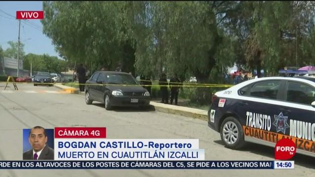 FOTO: Matan hombre afuera escuela Cuautitlán Izcalli