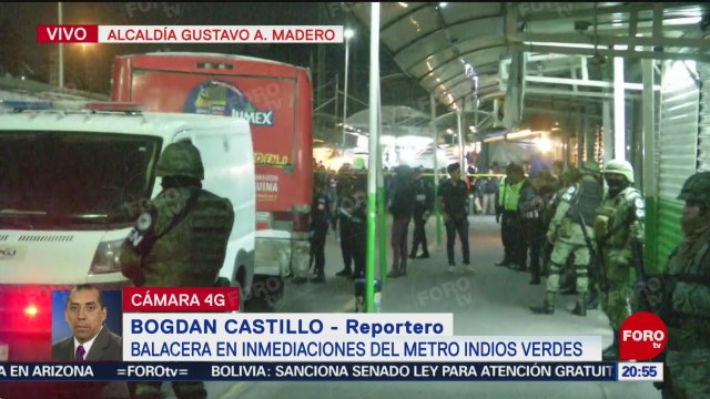 Foto: Matan Balacera Hombre Transporte Púbico Indios Verdes 22 agosto 2019