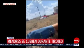 FOTO: Menores se cubren durante de tiroteo en Texas, 31 Agosto 2019
