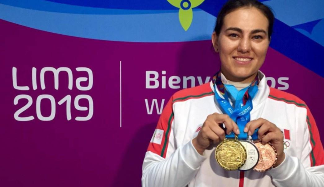 Foto: Alejandra Valencia Trujillo ganó la medalla de oro número 37 de México, 11 de agosto de 2019 (Twitter @CONADE)