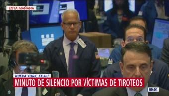 Minuto de silencio en Wall Street por víctimas de tiroteos en Texas