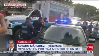 Foto: Movilización Policiaca Riña Adentro Bar Cdmx 15 Agosto 2019