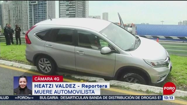 FOTO: Muere Automovilista Sobre México-Toluca Tras Infarto