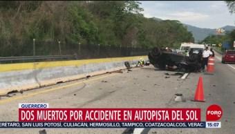 FOTO: Mueren dos tras percance en la Autopistas del Sol, 18 Agosto 2019