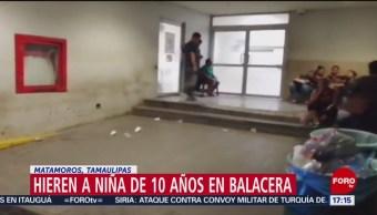 FOTO: Niña Herida Balacera Tamaulipas