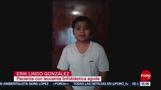FOTO: Niño Con Cáncer Pide Ayuda AMLO