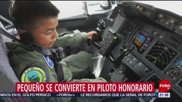 Foto: Niño Distrofia Muscular Cumple Sueño Volar Avión 20 Agosto 2019