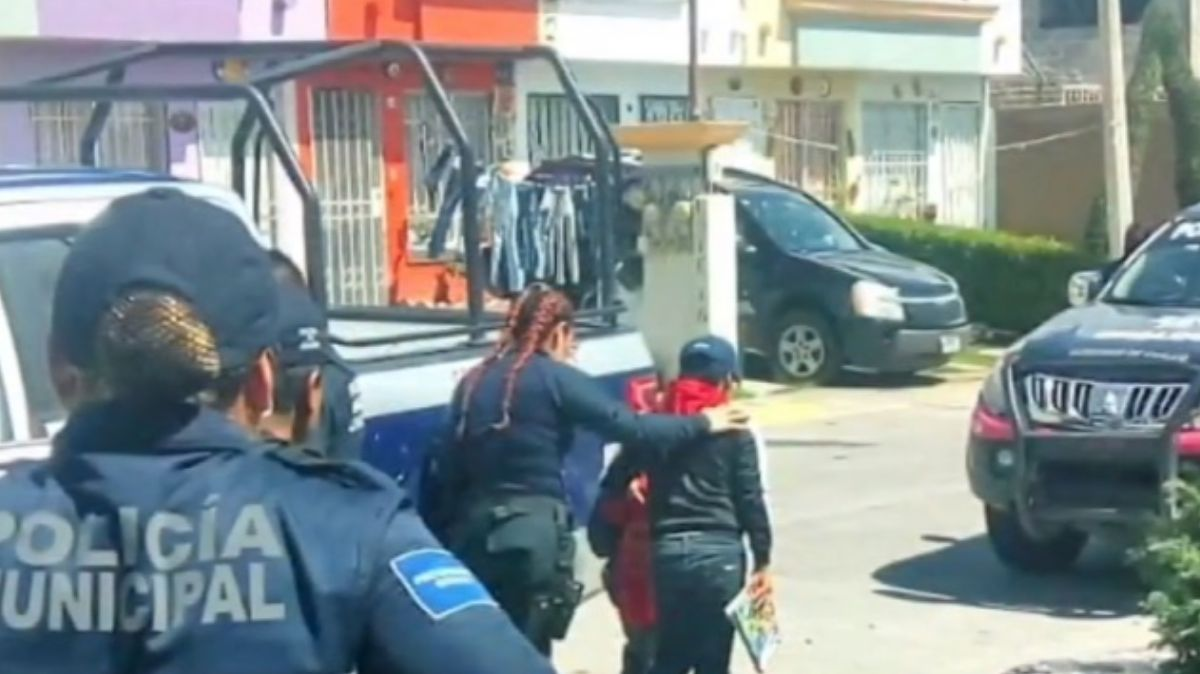 Niños rescatados en Chalco