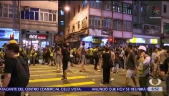 No cesan las protestas en Hong Kong