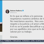 FOTO: Padierna confirma parentesco con juez caso Rosario Robles,