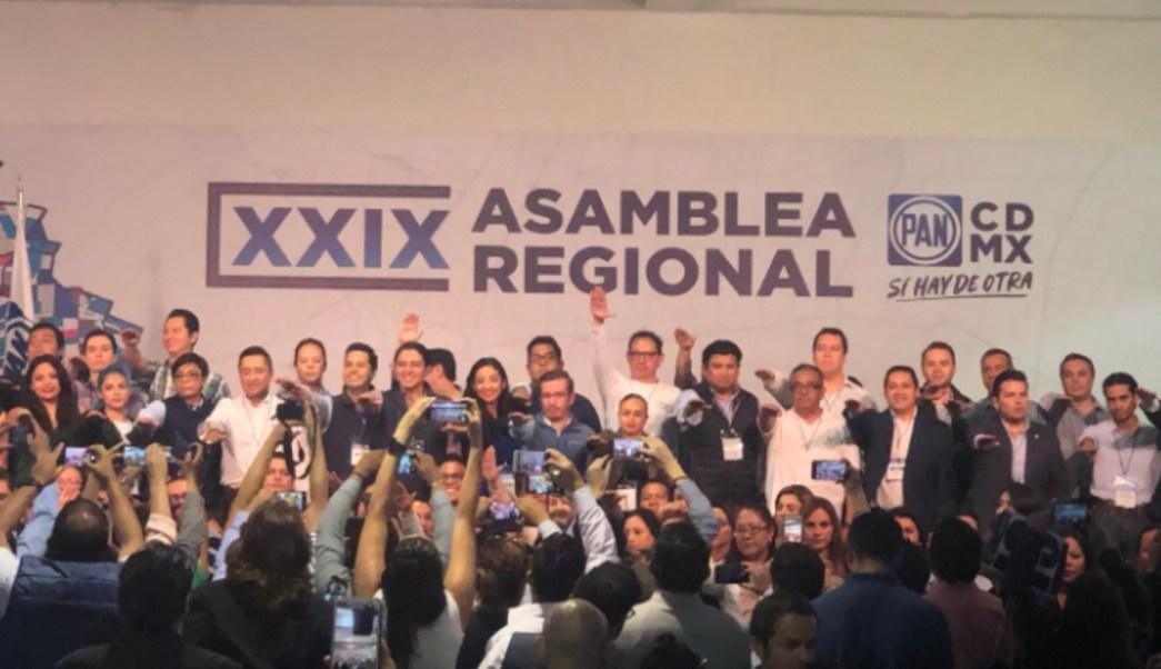 Imagen: El PAN en la Ciudad de México señaló que trabajará en coordinación con el gobierno de Claudia Sheinbaum a fin de terminar con la inseguridad, 18 de agosto de 2019 (Twitter @PAN_CDMX)
