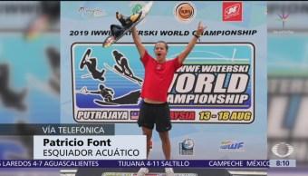 Patricio Font gana oro de esquí acuático para México