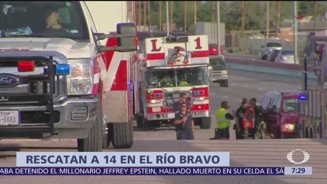 Patrulla Fronteriza rescata a 14 personas del Río Bravo