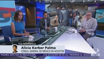 Permanecen 88 mexicanos detenidos en EU por redadas, dice cónsul