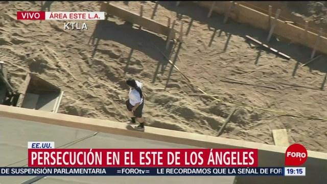 Foto: Persecución Los Ángeles California Hoy 28 Agosto 2019